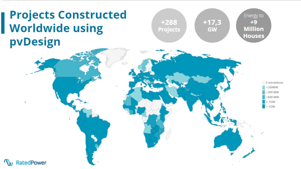 pvDesign projects constructed worldwide
